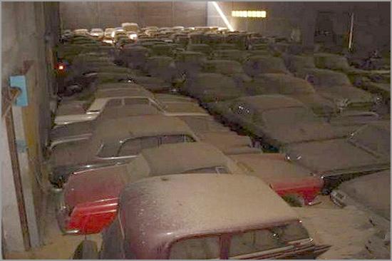 Armazém de automóveis antigos do Estado Português - Capeia Arraiana
