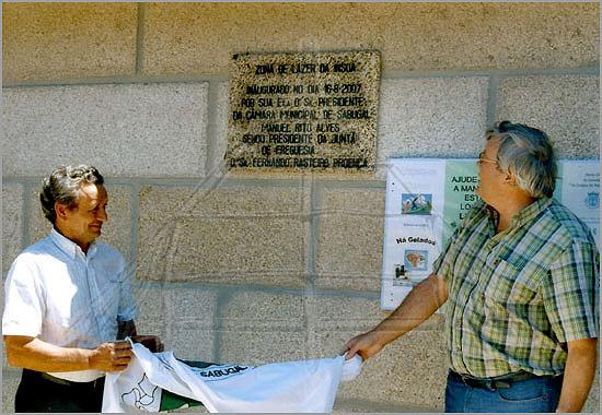 Inauguração da Praia Fluvial de Vale das Éguas - Fernando Proença e Manuel Rito (foto: jcl) - capeiaarraiana.pt