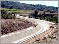 Circuito hidroagr�cola da barragem doSabugal