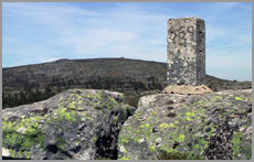 Marco fronteiriço na Serra das Mesas
