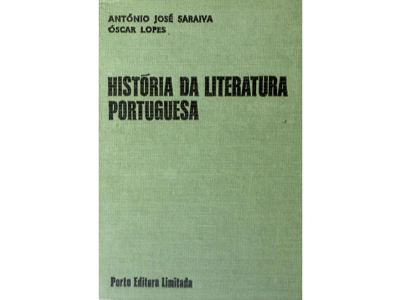História da Literatura Portuguesa de António José Saraiva e Óscar Lopes