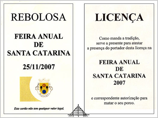 Licença para matar o marrano na Feira da Santa Catarina na Rebolosa - capeiaarraiana.pt