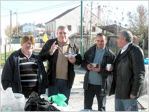 José Manuel Campos, Manuel Rito, Manuel Barros e Fernando Cabral - capeiaarraiana.pt