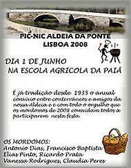 Cartaz do pic-nic de Aldeia da Ponte em Lisboa