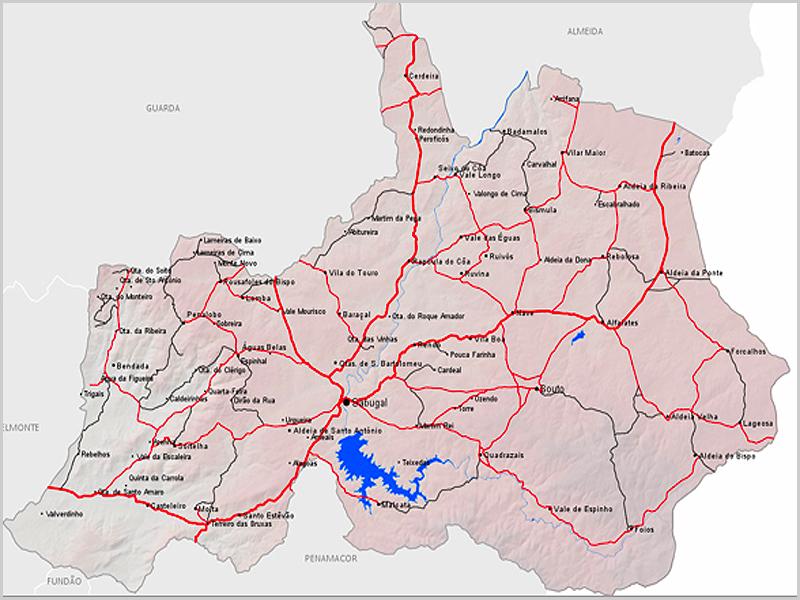 Mapa do concelho do Sabugal - capeiaarraiana.pt