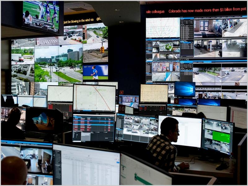 Big Brother - centro de videovigilância da polícia de Detroit nos Estados Unidos - capeiaarraiana.pt