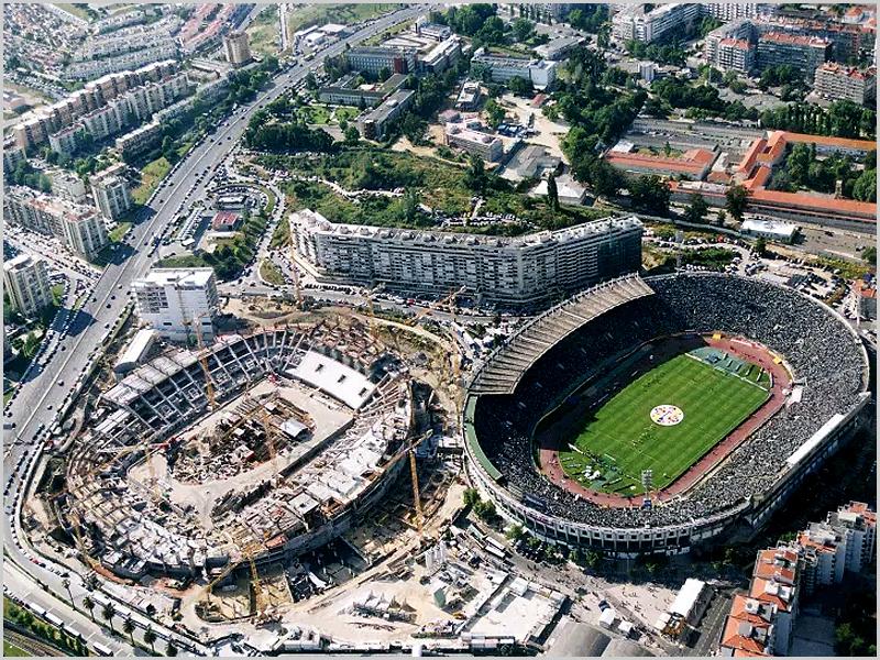 O «velho» e o «novo» Estádio de Alvalade