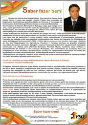 Carta de Apresentação - António Robalo - PSD - Sabugal - 2009