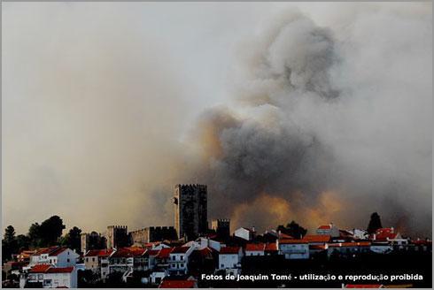 Incêndio no Sabugal - Foto Joaquim Tomé (Tutatux)