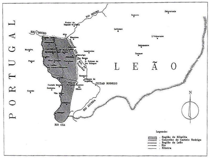 Mapa de Riba Côa