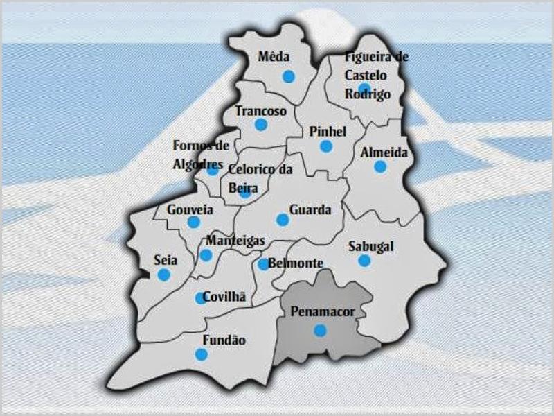 Mapa da Região de Turismo da Serra da Estrela - capeiaarraiana.pt