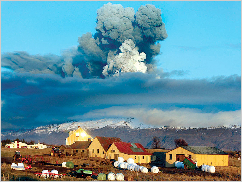 Vulcão islandes Eyjafjöll