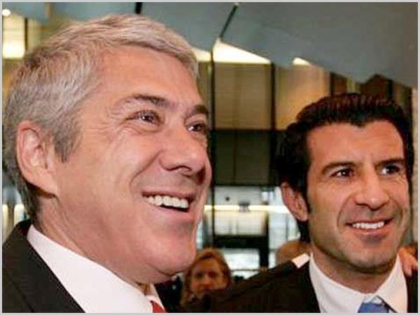 José Sócrates e Luís Figo - capeiaarraiana.pt