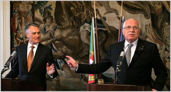 Cavaco Silva e Vaclac Klaus