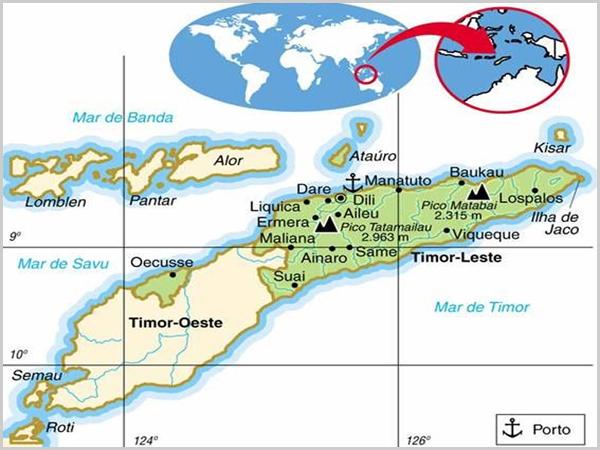 Mapa de Timor Lorosae