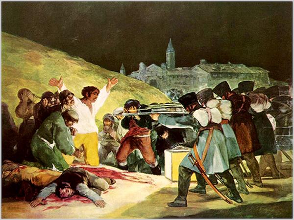 Os fuzilamentos de 3 de Maio de 1808 em Madrid (Francisco de Goya)
