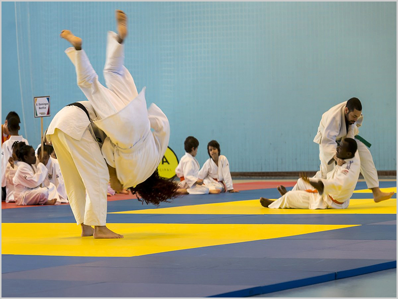 Judo no pavilhão do Estádio Universitário de Lisboa