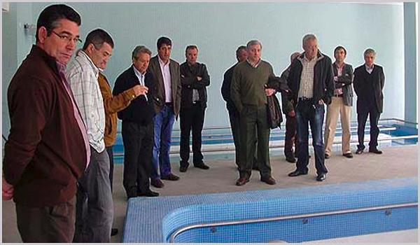 Visita dos autarcas sabugalenses às instalações das Termas do Cró
