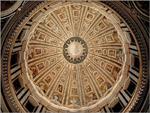 Vista interior da cúpula da Basílica de São Pedro, Vaticano