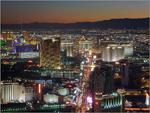 Vista aérea e nocturna de Las Vegas