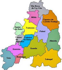 mapa concelho de seia Distrito da Guarda perde 212 freguesias | Capeia Arraiana  mapa concelho de seia