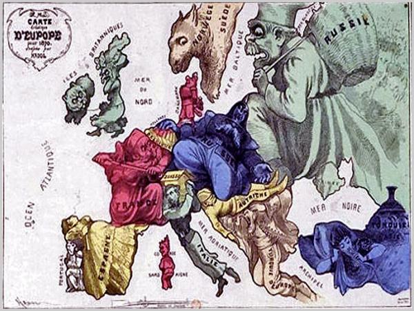 A Europa de 1870