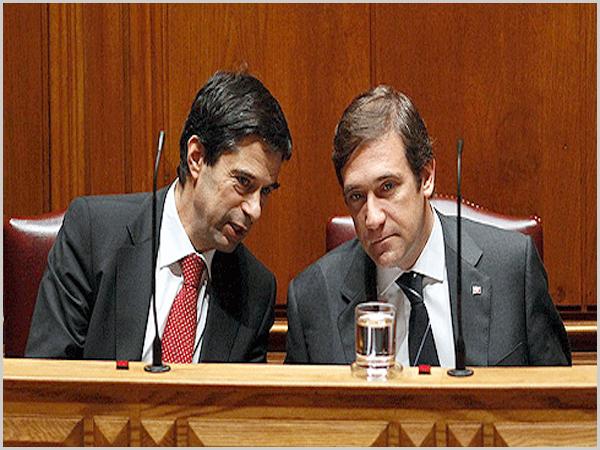 Vítor Gaspar e Pedro Passos Coelho