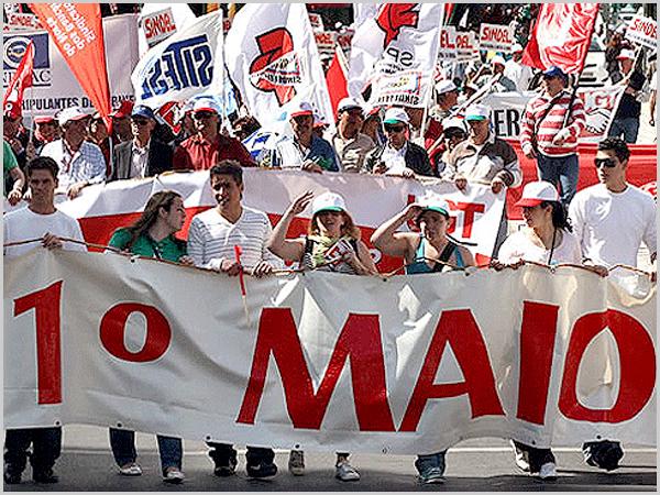 Manifestação do 1.º Maio