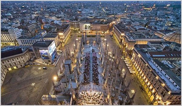 Cidade de Milão em Itália