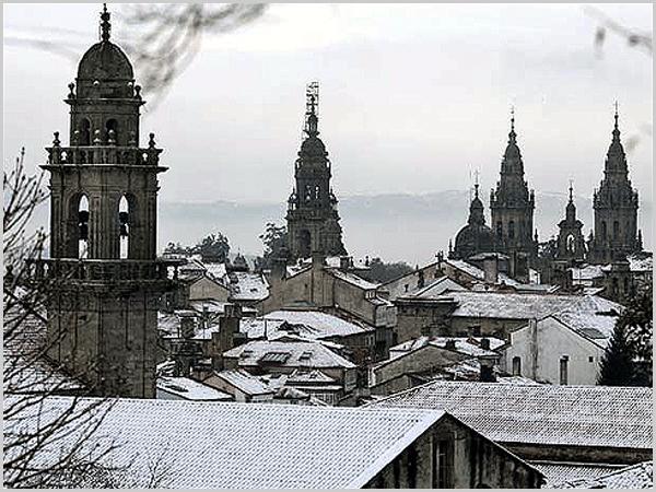 Cidade de Santiago de Compostela em Espanha
