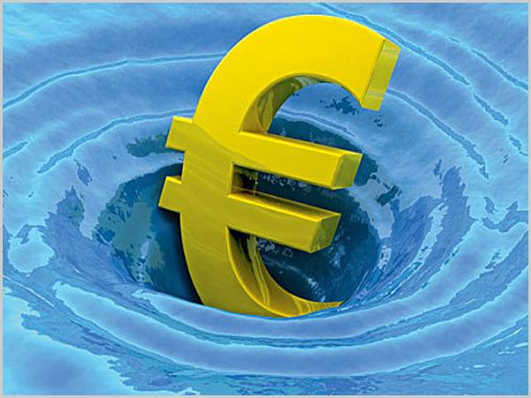 Euro em dificuldades