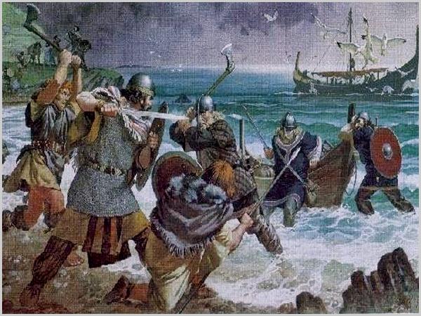Desembarque de guerreiros vikings