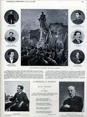 Página da Ilustração Portuguesa sobre a inauguração do monumento a Sousa Martins, em 7 de Março de 1904, sete anos apenas depois da morte do ilustre médico