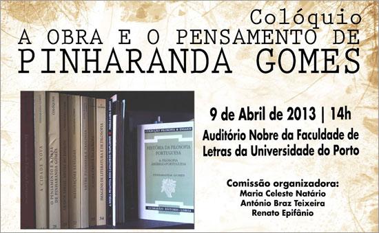 A Obra e o Pensamento de Pinharanda Gomes - Capeia Arraiana