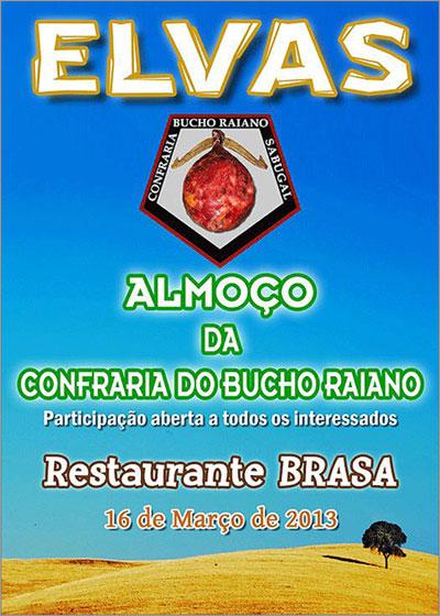 Confraria Bucho Raiano - Restaurante Brasa - Elvas - 16 Março 2013