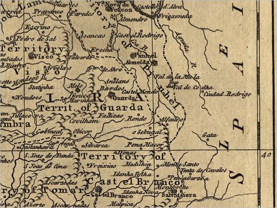 Mapa Distrito Guarda - Censos 1758 - Capeia Arraiana