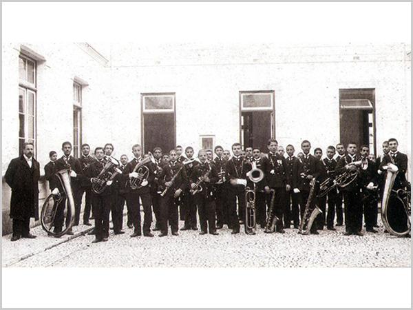 Banda de música da Real Casa Pia de Lisboa em 1905