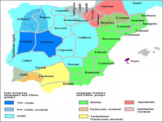 Mapa da Lusitânia - Capeia Arraiana