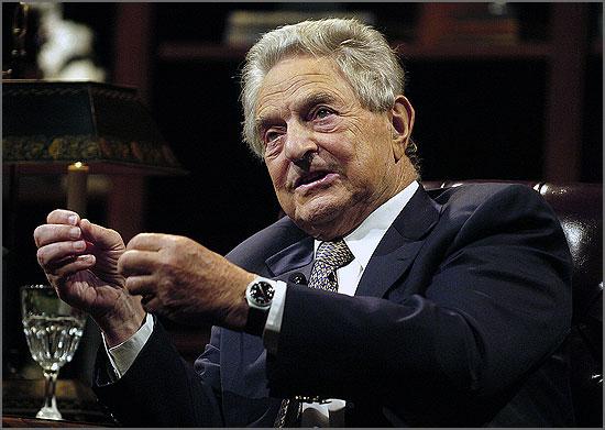 O empresário hungaro-americano George Soros