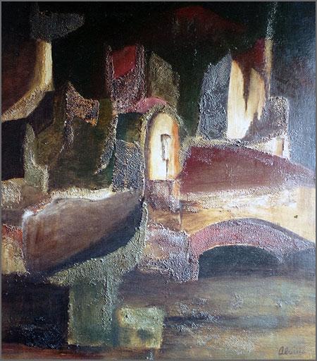 Obra abstracta - pintura de Alcínio