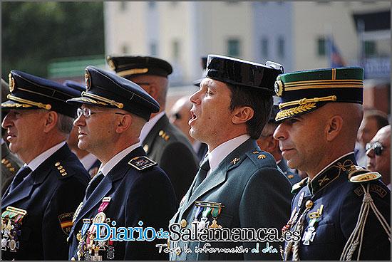 Cunha Rasteiro (à direita) entre os demais homenageadados - foto do «Diádio de Salamanca»