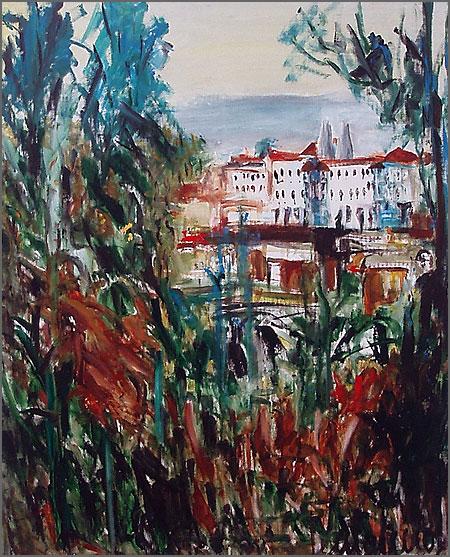 Vila de Sintra - pintura de Alcínio