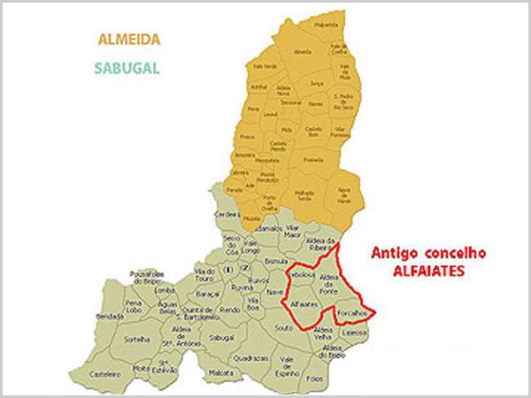 Limites do antigo concelho de Alfaiates