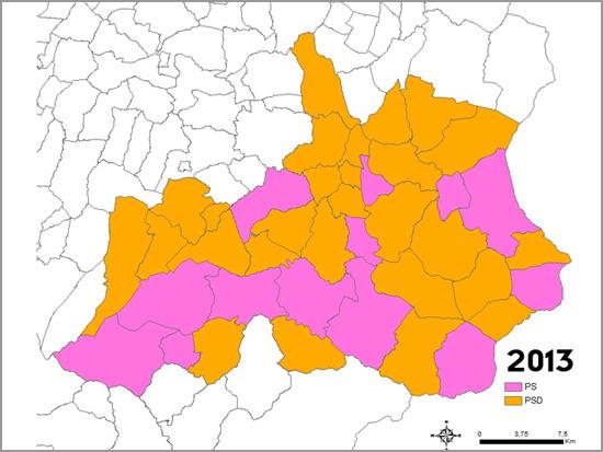 Mapa das Eleições Autárquicas no concelho do Sabugal 2013 - capeiaarraiana.pt