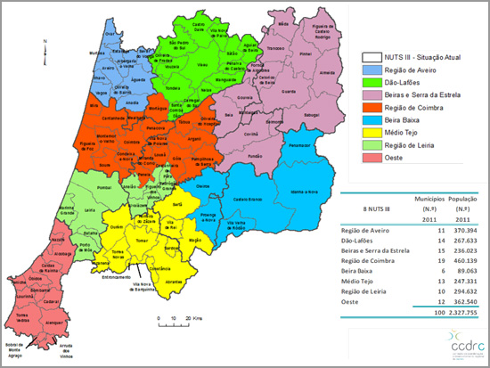 Mapa Região Centro