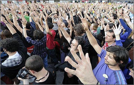Protesto em Democracia