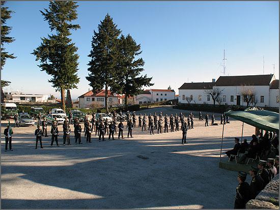 A parada dos militares da GNR da Guarda