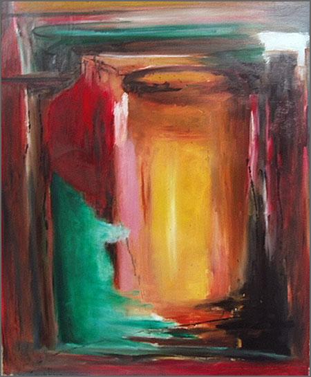 Sem título - intura abstracta de Alcínio Vicente