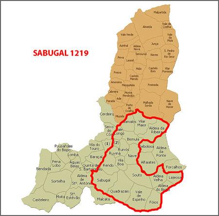 Sabugal depois da criação do concelho de Alfaiates