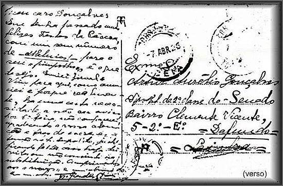 O primeiro postal